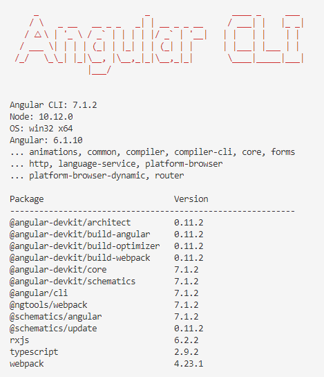 check angular cli version in cmd