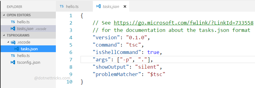 tasls.json File in .vscode