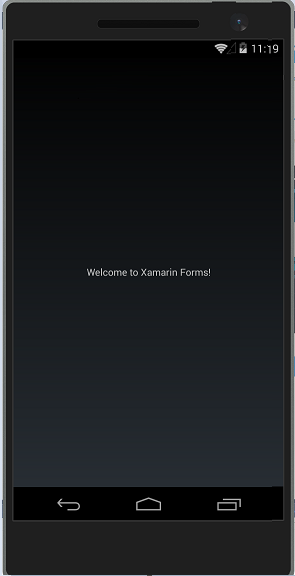 Running Xamarin Forms App